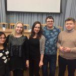 Молодые литераторы. И. Малышев - справа